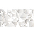 white crumpled abstract background low poly style vector image vector image