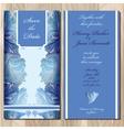 Winter frozen glass design Wedding invitation vector image vector image