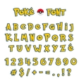 Cartoon Comic Font Alphabet in style of comics vector image