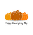 happy thanksgiving day pumpkin with shadow vector image