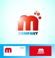 Letter M logo red icon 3d vector image