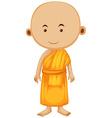 Buddhist monk standing alone vector image