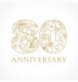 80 anniversary vintage logo vector image vector image
