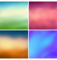 Abstract colorful blurred backgrounds set 2 vector image