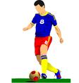al 0919 soccer01 vector image vector image