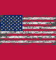 american flag brush painted flag of usa hand vector image vector image