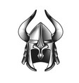 ancient vikings helmet with horns armored vector image