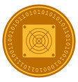 asic miner digital coin vector image vector image