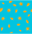 autumn leaves yellow orange leaf set oak maple vector image vector image