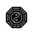 bagua black glyph icon vector image vector image