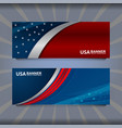 banner flag of america vector image vector image