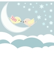 bird with love kiss in sky clouds vector image