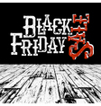 Black Friday Retro Typography Logo in black room vector image