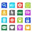 blog icon set vector image vector image