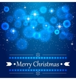 Blue Christmas background with flares on the sky vector image vector image