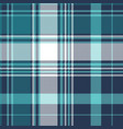 blue pixel check tartan seamless fabric texture vector image vector image