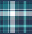 blue pixel check tartan seamless fabric texture vector image vector image