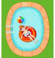boy at pool vector image