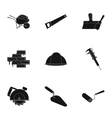 Build and repair set icons in black style Big vector image vector image