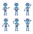 cartoon mascot robot robot character robot vector image vector image