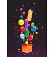Celebratory balloons vector image
