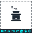 Coffee grinder icon flat vector image vector image