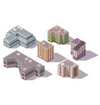 collection isometric high rise buildings vector image vector image