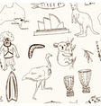Collection of Australia doodle seamless vector image vector image