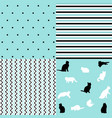 creative seamless patterns and prints set vector image vector image