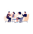 discussion concept flat young businesspeople vector image vector image