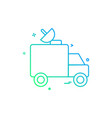 dish satellite car truck icon design vector image