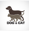 dog and cat design on white background animal vector image