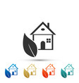 eco house icon isolated on white background vector image vector image