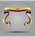 ecuadorian flag wavy ribbon background vector image vector image