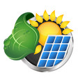 electricity from the sun symbol vector image vector image
