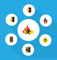 flat icon emergency set of exit entrance vector image vector image