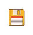 floppy disk 35 vintage diskette classic vector image vector image