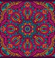 flower geometric mandala frame border vector image vector image