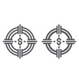 funds hunting line and glyph icon finance and vector image vector image