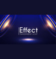 futuristic light effcet illuminated scene vector image vector image