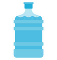 gallon drinking water icon flat isolated vector image