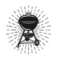 grill with rays monochrome vector image
