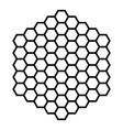 Hexagon pattern field black outline vector image
