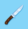 hunting knife icon design flat style vector image vector image