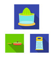 isolated object of kitchen and cook icon vector image
