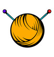 knitting thread and needles icon icon cartoon vector image
