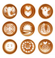 latte art realistic set vector image