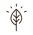 leaf nature ecology environment line icon vector image
