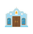 mexican blue house mexico city facade cartoon vector image vector image