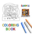 miner coloring page vector image vector image